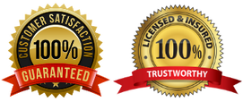 customer satisfaction and trustworthy badges